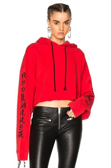 Hollywood Forever Cropped Hoodie