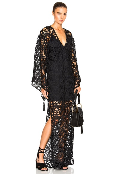 Guipure Lace Lined Caftan