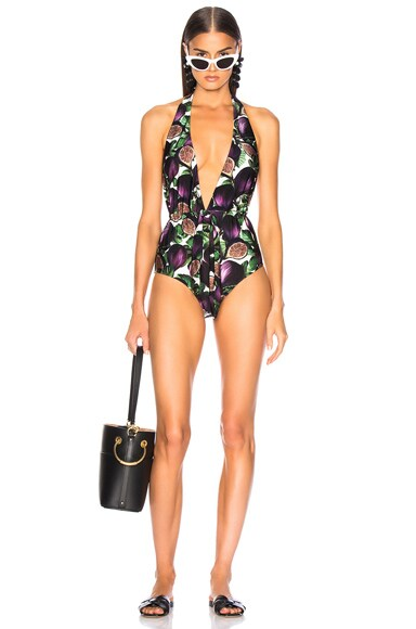 Fiore Twisted Halterneck Swimsuit