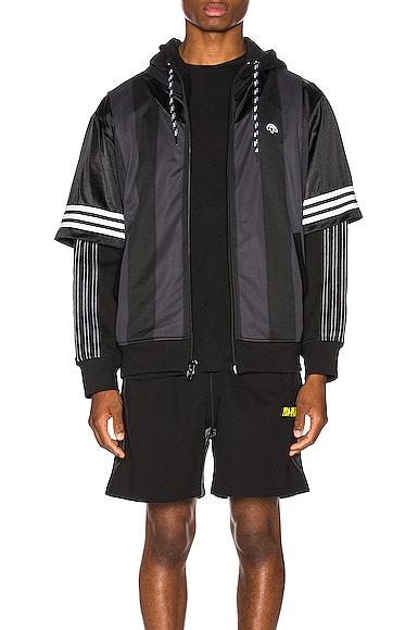 Adidas Originals By Alexander Wang Tops ADIDAS BY ALEXANDER WANG WANGBODY HOOD IN BLACK,STRIPES.