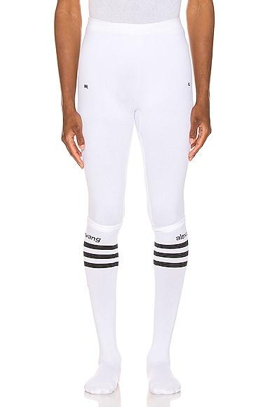 Adidas Originals By Alexander Wang Socks ADIDAS BY ALEXANDER WANG SOCK LEGGINGS IN WHITE.