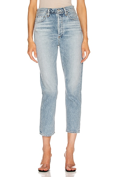 Double Pocket Riley High Rise Straight Crop
