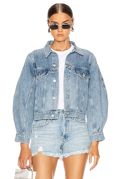 Alik Balloon Sleeve Denim Jacket
