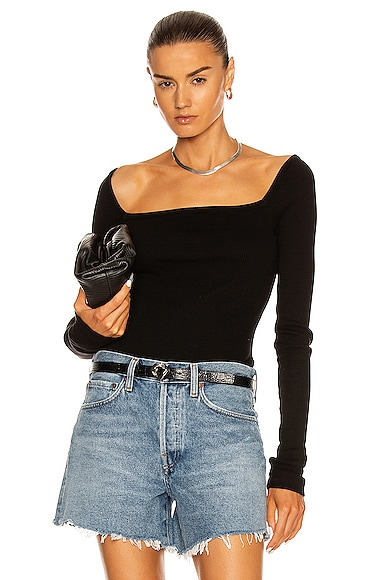 Agolde Clothing HANLEY SQUARE NECK BODYSUIT