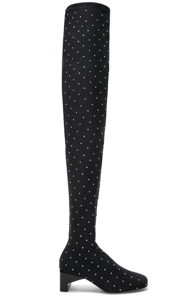 Embellished Blondie Thigh High Boots