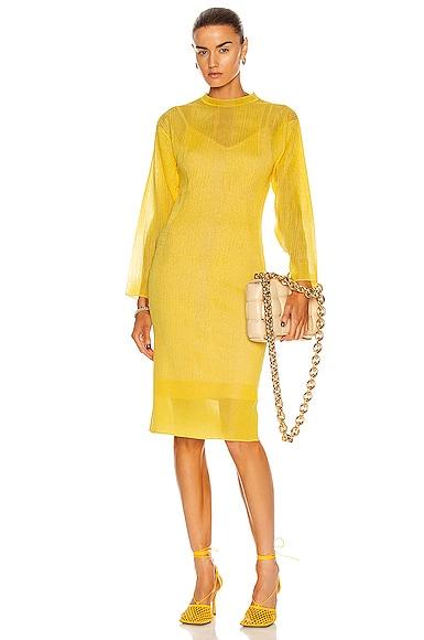 Aknvas Sally Dress In Sunny Yellow