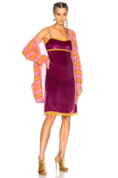 1314375d570b Lace Trim Velvet Slip Dress