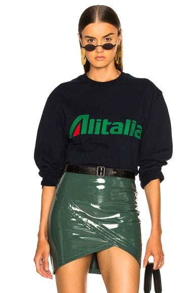 x Alitalia For FWRD Logo Sweatshirt