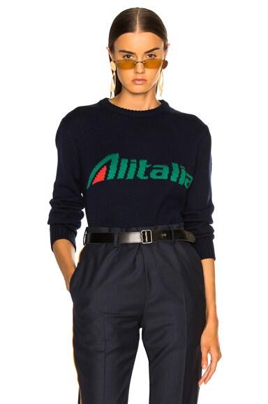 x Alitalia For FWRD Logo Sweater