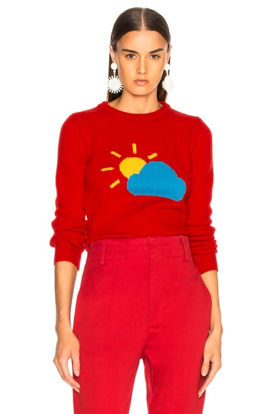 Partly Cloudy Crewneck Sweater