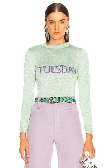 Tuesday Lurex Crewneck Sweater