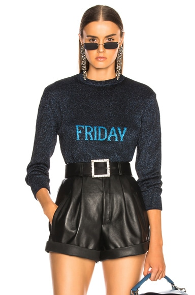 Friday Lurex Crewneck Sweater