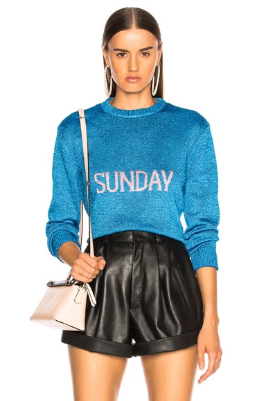 Sunday Lurex Crewneck Sweater