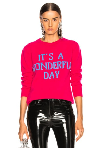 It's A Wonderful Day Crewneck Sweater