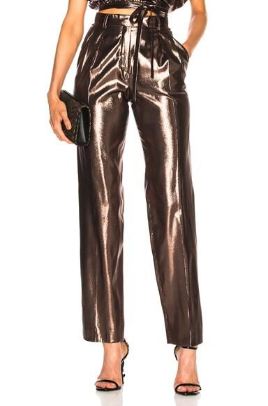 Metallic Silk Trousers