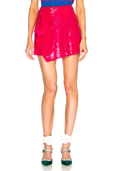 Sequin Wrap Skirt