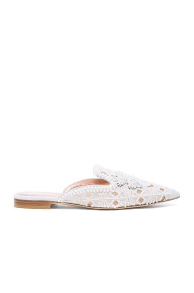 Cotton Beaded Mules