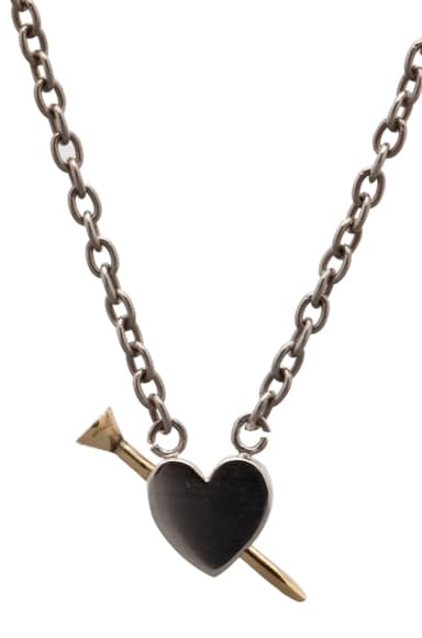 Heart Shaped Nail Necklace