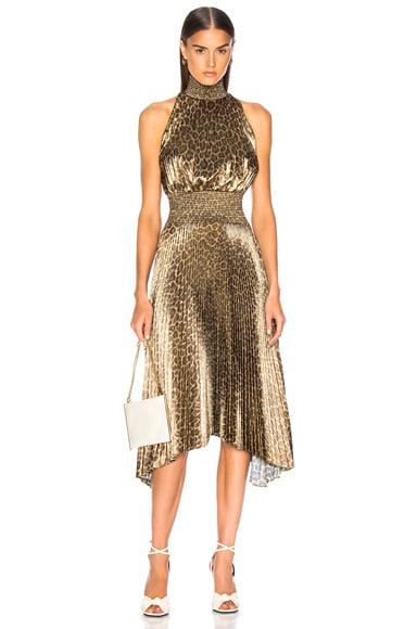 Spotted Leopard Foil Renzo Dress