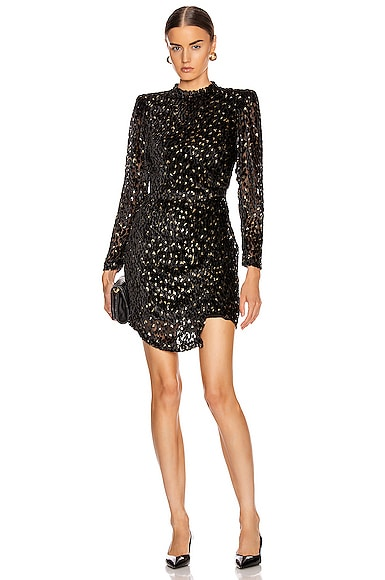 A.l.c Dresses A.L.C. JANE DRESS IN BLACK,METALLIC