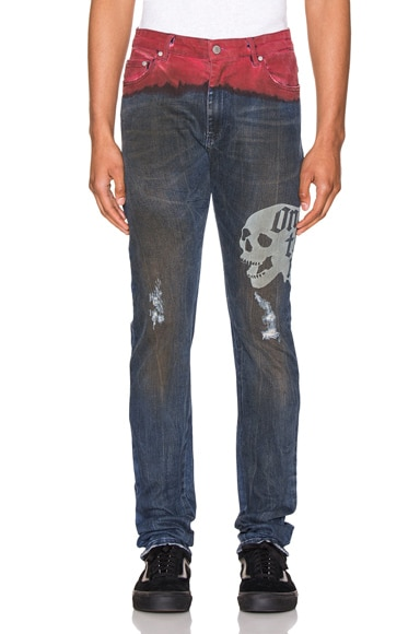 Hold Etched Dip Dyed Jean