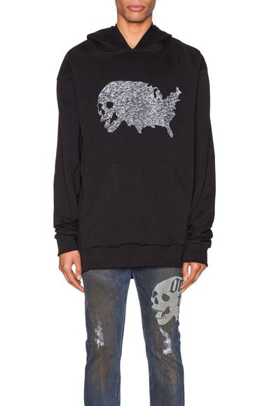USA Skull Tweed Hoodie