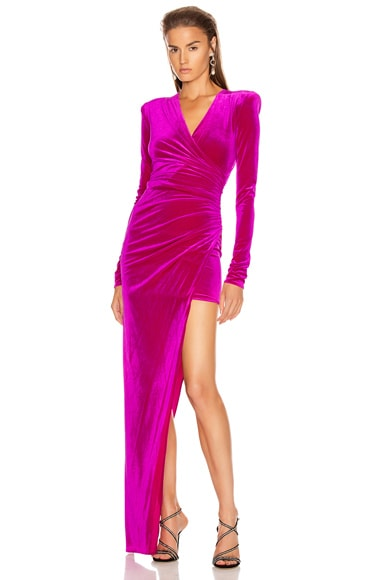 for FWRD Ruched Velvet Gown