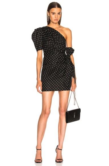 One Shoulder Dot Dress