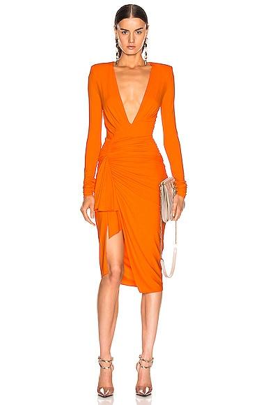 Jersey Ruched Mini Dress
