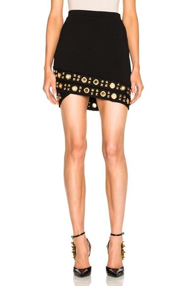 Knit Studded Grommet Skirt