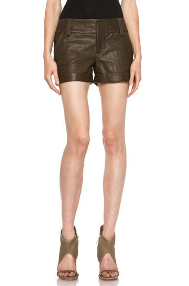 Leather Cady Cuff Short