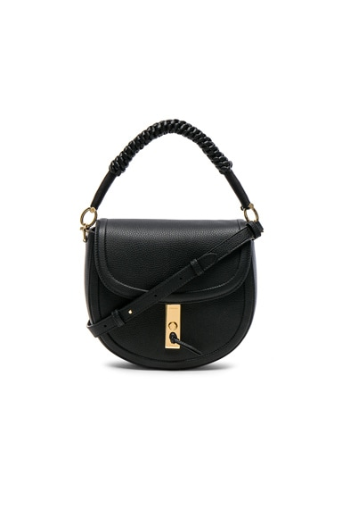 Ghianda Braided Top Handle Medium Saddle Bag