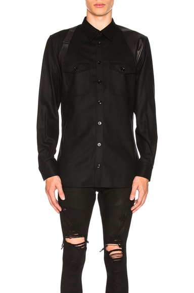 Leather Harness Shirt