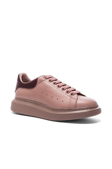 Leather Platform Low Top Sneakers