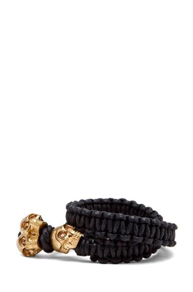 Skull Double Wrap Bracelet