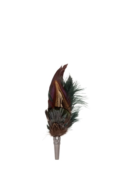 Short Feather Brooch