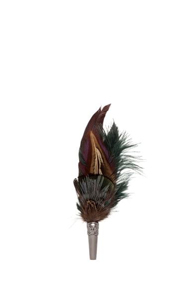 Short Feather Brooch