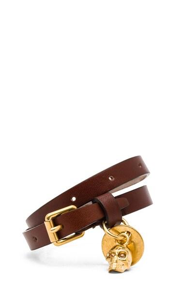 Double Wrap Calfskin Bracelet
