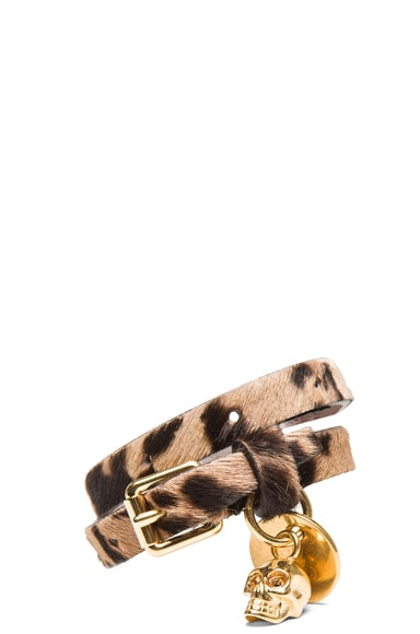 Double Wrap Calf Hair Bracelet