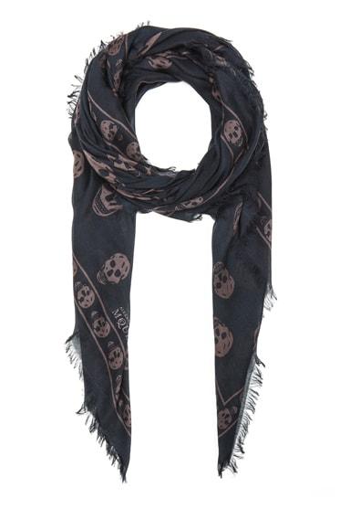 Printed Modal & Silk Skull Pashmina