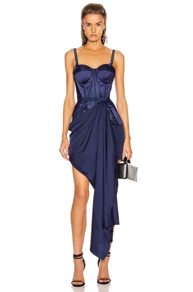 Bustier Drape Dress