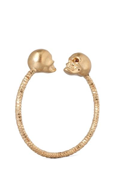 Twin Skull Brass Bracelet