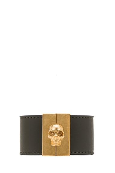 Skull Leather Cuff