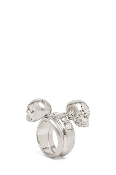 Skull Wrapping Twin Ring