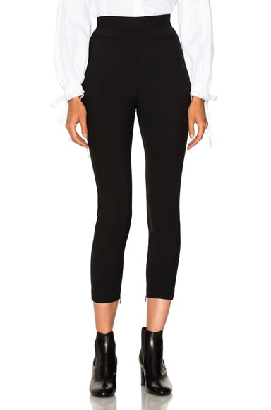 Stretch Wool High Waisted Pants