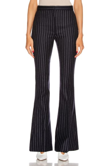 Pinstripe Sharp Flare Pant