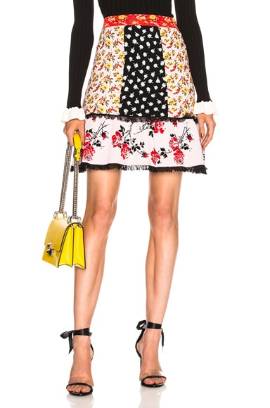 Floral Peplum Mini Skirt