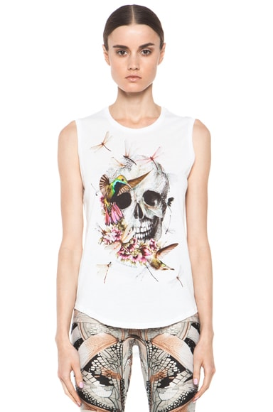 Bird Skull Sleveless Top