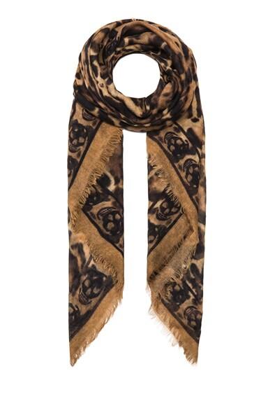 Animalier Cashmere & Silk Skull Scarf