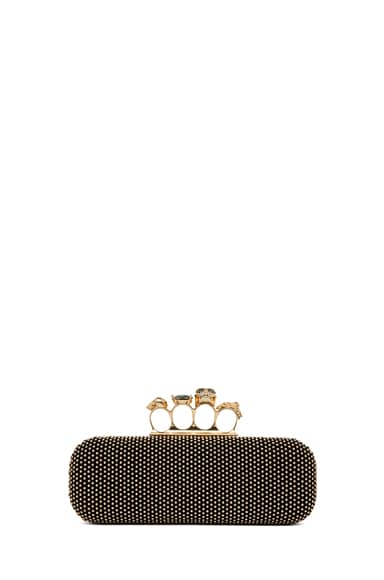 Suede Kuckle Box Clutch